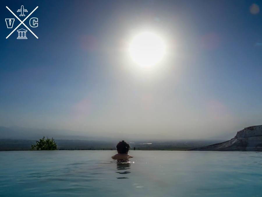 bañarse en Pamukkale