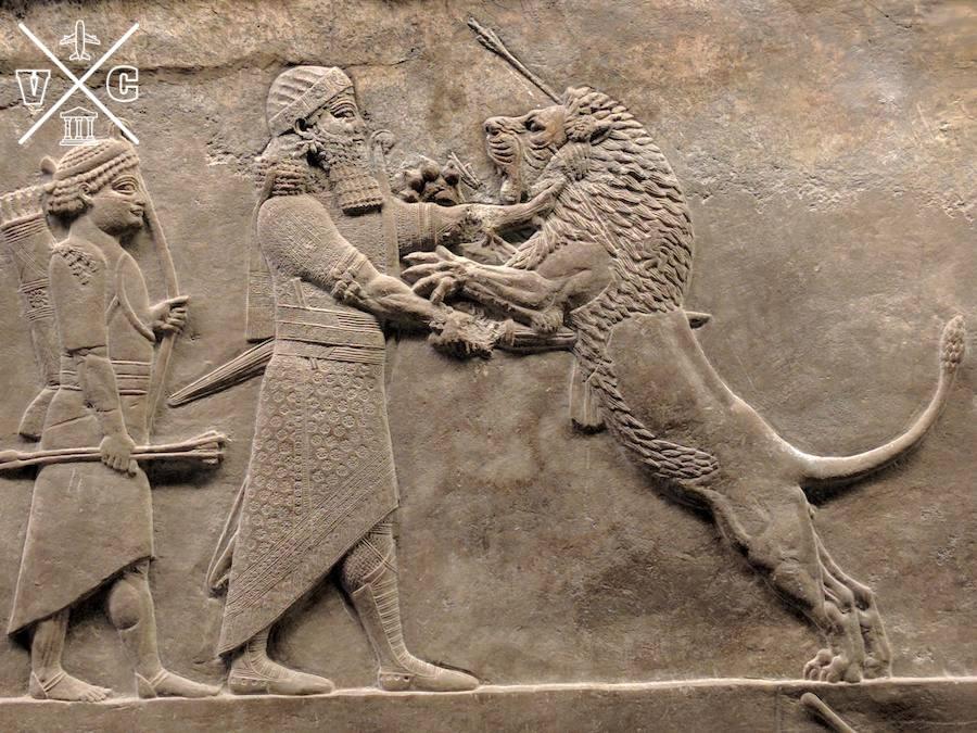 Caza león British Museum